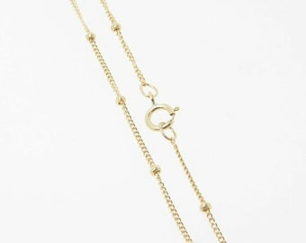 30 Inch - Gold Filled Satellite Chain 1mm w/ 1.9mm Ball Necklace