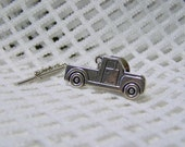 Truck Tie Tack, Pick Up Truck, Country Western Truck, Retro Truck, Silver Plated Truck Lapel Pin, Ranch Truck