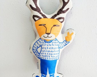 Silkscreen Deer Plush