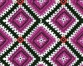 SALE - Windham Fabrics - Wild Field Collection by Dinara Mirtalipova - Diamond Medallion in Pink
