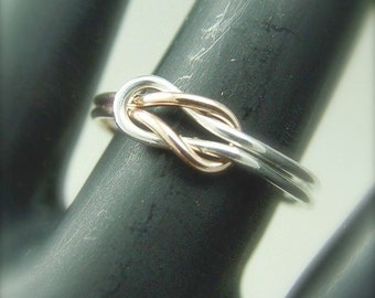 Gold Infinity Ring / Rose Gold Filled and Silver Infinity Ring / Best Friends Ring / Sisters Ring / Wedding Ring / Promise Ring