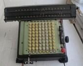 Vintage MONROE Calculator 100 Key Adding Machine