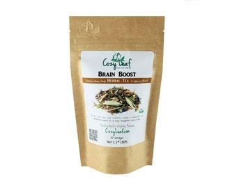 Brain Boost Artisan Organic Loose Leaf Tea by Cozy Leaf