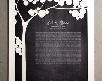 Ketubah Papercut Tree, Modern Ketubah Print with papercut layer, ketubah tree, papercut ketubah, interfaith ketubah