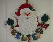 Bucilla Felted Competed Believe in Santa Wall Hanging Christmas Decoration
