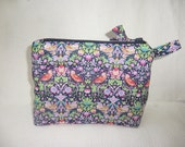 Liberty Tana Lawn Padded Make up Purse in 'The Strawberry Thief'