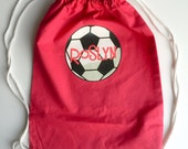 Personalized SPORTS Cotton Drawstring Tote Bag