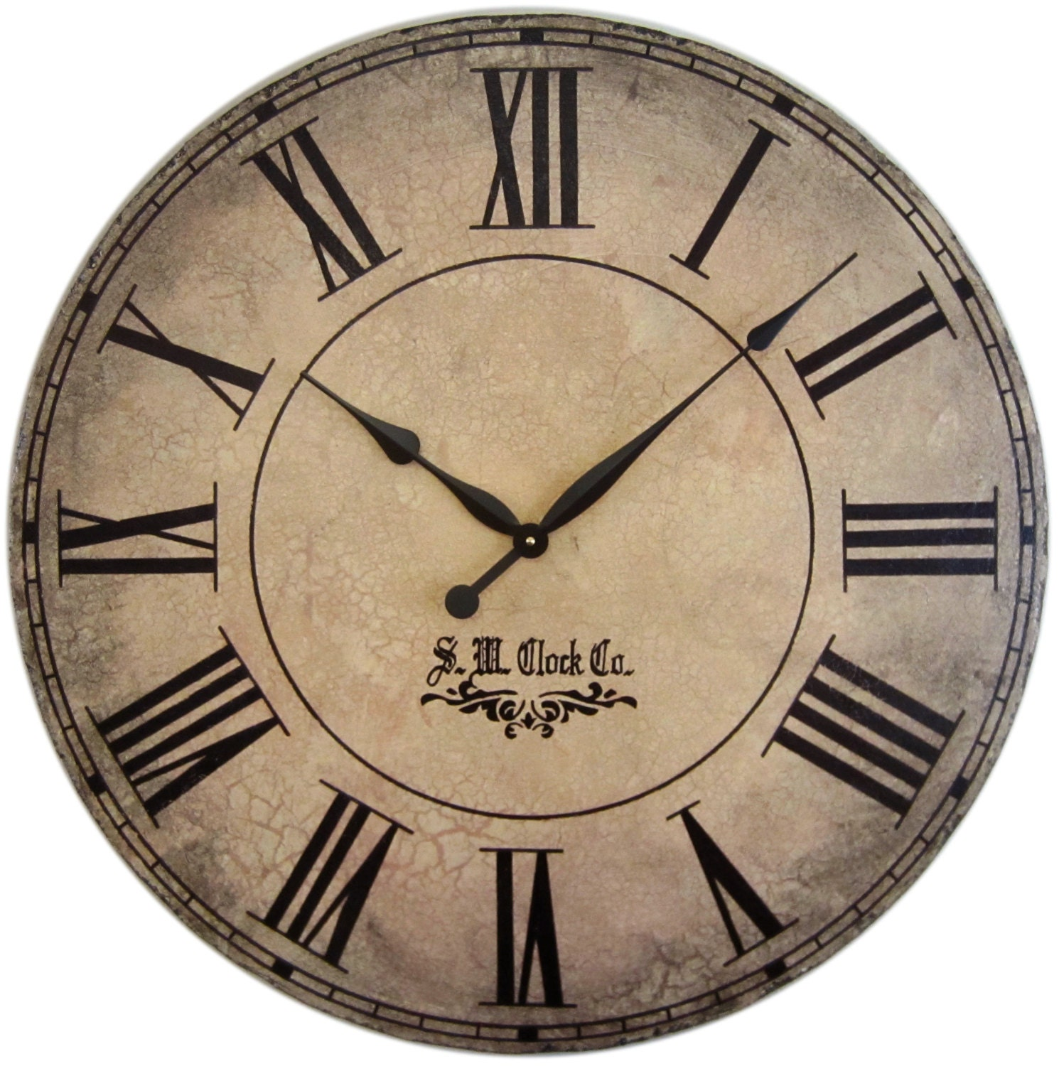 36 in grand gallery extra large wall clock roman numerals big - Large roman numeral wall clocks ...