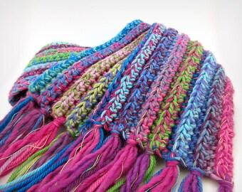 Technicolor Rainbow Scarf - merino wool knit scarf