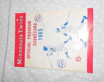Minnesota Twins  American League 1965 Program