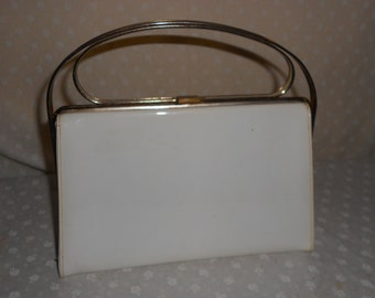 Purse Hand bag, Vinyl Retro Wedding purse
