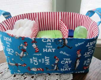 Diaper Caddy Organizer Dr Seuss The Cat in The Hat Storage basket