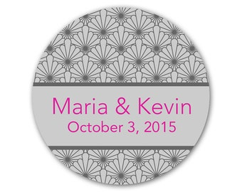 Personalized Wedding Favor Stickers - Custom Labels - Wedding Stickers - Favor Labels - Deco Design - Choose Your Colors