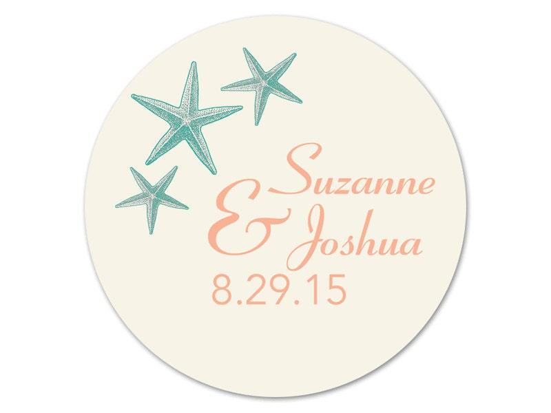 personalized beach wedding stickers favor labels custom