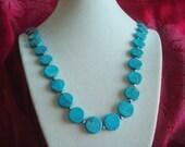 "Vintage Jewelry Natural Arizona Turquoise Beads Adjustable 18"" Strands"