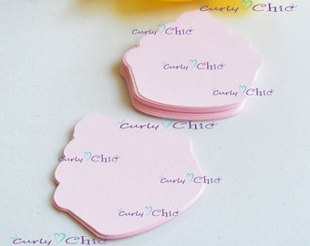 "120 Cup Cakes Die cuts Size 2"" -Paper Cup Cakes Tags -Cup Cakes Labels -Cardstock die cuts -Paper tags -Cup Cakes"