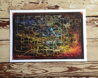 Blacked Out Detroit Map