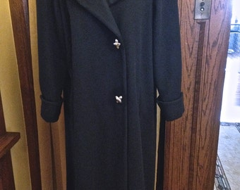 Vintage Navy Wool Swing Coat