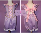Tangled Rapunzel Romper Disney Princess Dress costume dress up birthday outfit Elsa Anna Snow White Belle Tiana