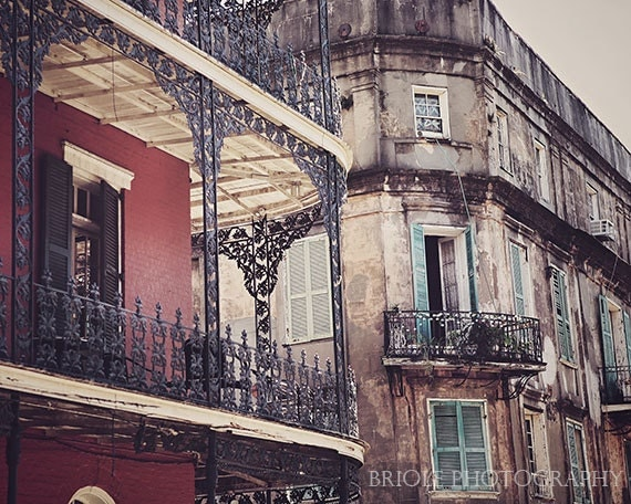 Royal Street New Orleans Art Print French Quarter By Briole