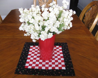 SALE Postage Stamp Table Topper / Candle Mat
