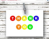 ON SALE 40% off Thank You - 4x5.5 folded greeting card - Thank You Card
