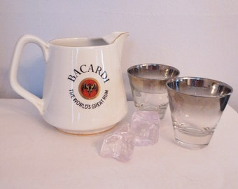 Bacardi Rum- Bar Pitcher Bat Trademark Logo