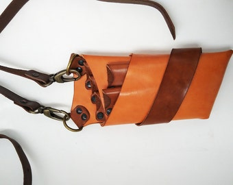 Unique design Scissor Case/Handmade Leather Shear Holster for Professional Hairdresser