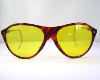 1940s 50s  AMERICAN OPTICAL 12k Gold filled Kalichrome Sunglasses Very very  Rare style, mint