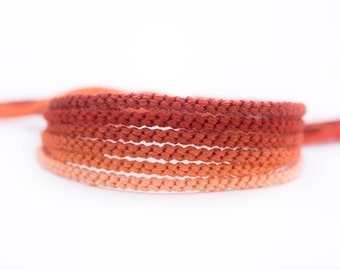 Shades of Warm Brown Friendship Bracelet Set - Six Handmade Bracelets