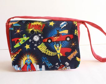 Super hero Mini Messenger-kids messenger bag-  Kids purse