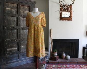 vintage 60s floral babydoll dress