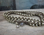 Crochet Wrap Bracelet Triple Wrap x3 or Necklace Nylon Cord