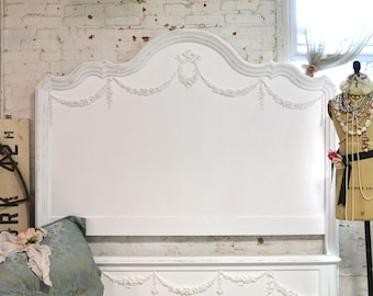 Painted Cottage Shabby Farmhouse Romantic Bed King / Queen HKBD05