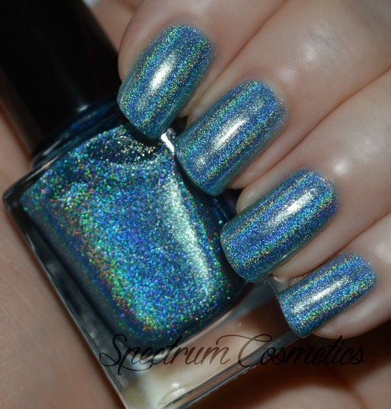 PRINCE CHARMING Linear Holographic Blue Nail Polish From