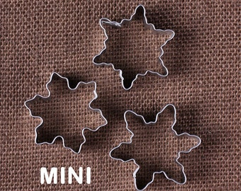 MINI Snowflake Cookie Cutter, Christmas Cookie Cutters, Frozen Party Snowflake Cookie Cutters, Mini Cookie Cutters, Holiday Cookie Cutters