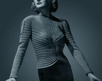 Bear Brand & Bucilla #306 c.1938 - Hand Knit Elegance (DIGITAL DOWNLOAD .PDF) With Free Bonus Book!!