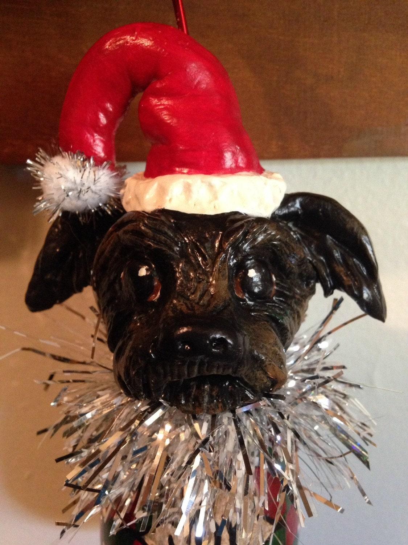 Custom Dog or Cat Christmas Ornament by WolfsFolkArt on Etsy