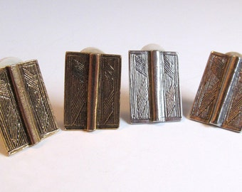 Two Sets of Book Clip Earrings