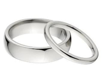 His and Her Matching Titanium Ring Set, Aerospace Grade Titanium Rings: 3HR-P - 8HR-P