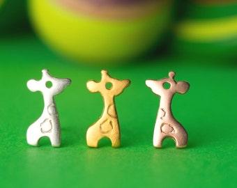 Mom Jewelry Tiny Giraffe Studs Giraffe Earrings Sterling Silver cute animal earrings birthday gift earring kids jewelry gift animal earrings