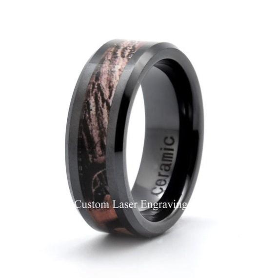 Ceramic Wedding Band Mens Wedding Ring His Rings Hers
