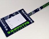 Seattle Seahawks fabric luggage tag, ID tag, travel bag tag