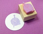 Crochet Hand Carved Rubber Stamp - Craft Stamper - Scrapbooking - Sewing Stamp - Habidashery Stamp - Craft Supplies - Thread - Yarn - Hook