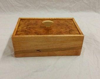 Maple and Cherry Burl Keepsake Box