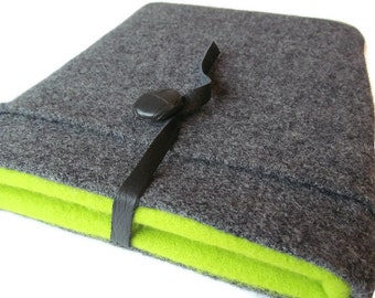 ipad Air / Nexus 9 / 3 4 Case / Tablet Cover / Kindle DX / Gray Wool Cover