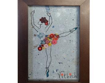 A Ballet Dancer Quilled Paper Art Quilled Ballerina Dance teacher card