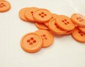 "12 Apricot Orange 9/16"" (14 mm) buttons"