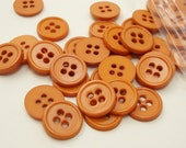 "Caramel Brown 9/16"" (14 mm) buttons, Qty 76"