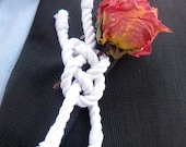Nautical Rope Knot Boutonniere Carrick Bend Knot Lapel Corsage